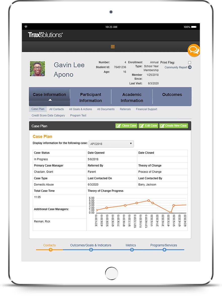 TraxSolutions Case Management iPad