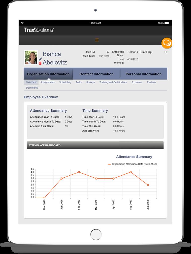 TraxSolutions StaffTrax iPad