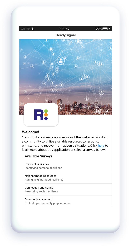 Community resilience app